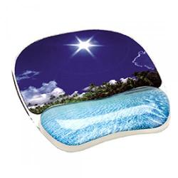 Cheap Stationery Supply of Fellowes 9202601 Beach Photo Gel Mouse Pad With Wrist Support Office Statationery