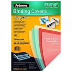 Fellowes 5376001 Pvc Cover A4 150 Microns Clear 100 Pk