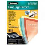 Fellowes 53762 Pvc Cover A4 240 Microns Clear 100 Pk