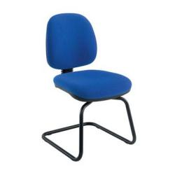 Cheap Stationery Supply of Zoom Visitor Chair Royal Blue Office Statationery