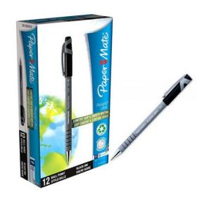 PaperMate Flexgrip Ultra Ball Pen Fine Black (Pack of 12) S0190053