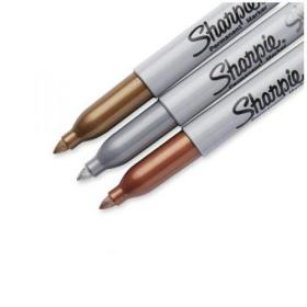 Sharpie Metallic Permanent Marker Fine Assorted (Pack of 3) 1849114