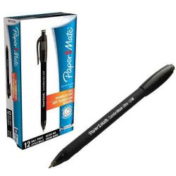 Cheap Stationery Supply of PaperMate ComfortMate Ultra Ballpoint Pen Black (Pack of 12) S0512260 Office Statationery