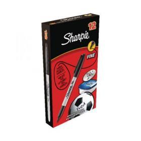 Sharpie Permanent Marker Fine Black (Pack of 12) S0810930