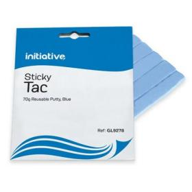 Initiative Reusable Sticky Tac Scored Strips Blue 70gm