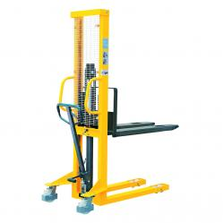 Cheap Stationery Supply of GPC Hydraulic Stackers Fork Type Fixed 1500kg Capacity 1600mm Lift Height Office Statationery