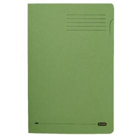 Elba Heavyweight Foolscap 290gsm Green Square Cut Folder 100090218