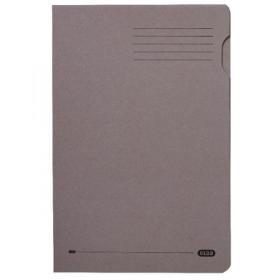 Elba Heavyweight Foolscap 290gsm Grey Square Cut Folder 100090219
