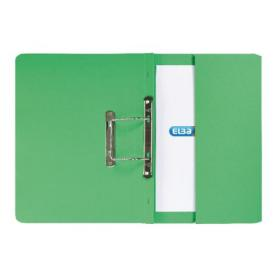 Elba Spring Pocket File 320gsm Foolscap Green (Pack of 25) 100090147