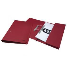 Elba Spring Pocket File 320gsm Foolscap Bordeaux (Pack of 25) 100090149
