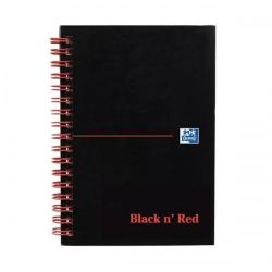 Cheap Stationery Supply of Black n Red (A6) 90g/m2 100 Pages Ruled and Perforated Polypropylene Covered Wirebound Notebook 100080490 Office Statationery