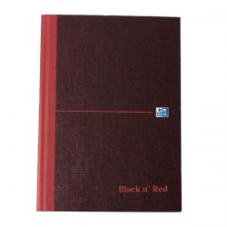 Cheap Stationery Supply of Black n Red Notebook Casebound 90gsm Ruled Indexed A-Z 192pp A5 100080491 Pack of 5 Office Statationery