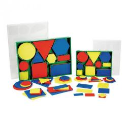 Cheap Stationery Supply of Geometric Plastic Shapes Small Set 60 Office Statationery
