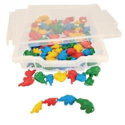 Cheap Stationery Supply of Linking Elephants 4 Colours Pack 80 Office Statationery