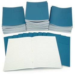 Cheap Stationery Supply of Light Blue A4 Exercise Book 48-Page, 8mm Ruled Pack of 100 Office Statationery