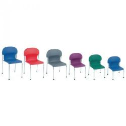 Cheap Stationery Supply of 2000 Classroom Chair Charcoal 460mm Office Statationery
