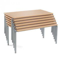 Cheap Stationery Supply of Classmates Rectangular Crushed Bent Classroom Table 1100 x 550 x 530mm Beech Office Statationery