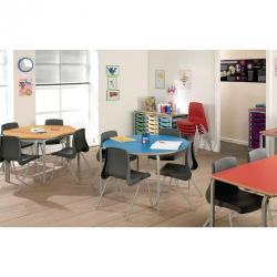 Cheap Stationery Supply of Classmates Square Crushed Bent Classroom Table 600 x 600 x 590mm Red Office Statationery