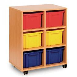 Cheap Stationery Supply of Double Unit 6 Trays Colour Office Statationery
