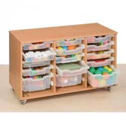 Cheap Stationery Supply of 15 Deep and Shallow Tray Units Clear Trays Office Statationery