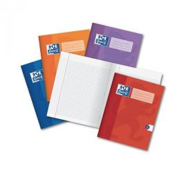 Cheap Stationery Supply of Red A4 Oxford Exercise Book 48-Page, 5mm Squared With Margin Pack of 50 Office Statationery