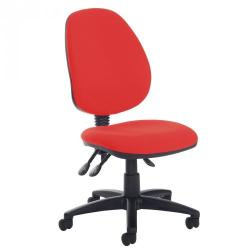 Cheap Stationery Supply of High Back Operator chair No Arms Red Office Statationery