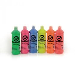 Cheap Stationery Supply of Classmates Ready Mixed Paint in Flourescent Pack of 18 600ml Bottle Office Statationery