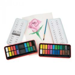 Cheap Stationery Supply of Watercolour Paint in 18 Assorted Colours Pan Set Office Statationery