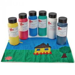 Cheap Stationery Supply of Acrylic Paint in Cyan Blue 500ml Bottle Office Statationery