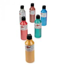 Cheap Stationery Supply of Fabric Paint in Metallic Pack of 6 300ml Bottle Office Statationery