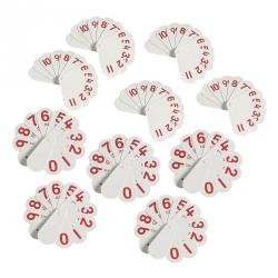Cheap Stationery Supply of Double-Sided Number Fans Pack 10 Office Statationery