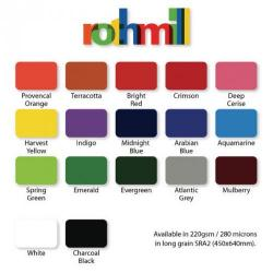 Cheap Stationery Supply of Rothmill A4 Brilliant Colour Card Charcoal black Office Statationery