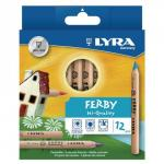 Lyra Assorted Ferby Triangular Colouring Pencils Pack of 12
