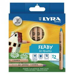Cheap Stationery Supply of Lyra Assorted Ferby Triangular Colouring Pencils Pack of 12 Office Statationery