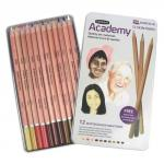 Derwent Assorted Academy Watercolour Pencils Pack of 12