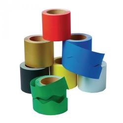 Cheap Stationery Supply of Paper Scalloped Border Rolls Blue Office Statationery