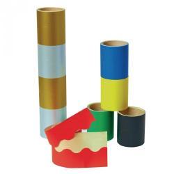 Cheap Stationery Supply of Paper Self Adhesive Scalloped Border Rolls Metallic Office Statationery
