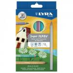 Lyra Assorted Super Ferby Colouring Pencils Pack of 12