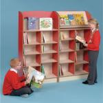 Display Bookcase 750 x 325 x 1200mm, Free Standing Red