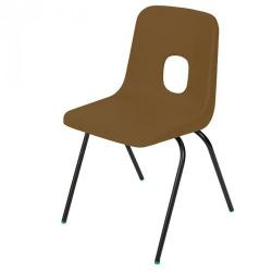 Cheap Stationery Supply of Series E Polypropylene Classroom Chair Brown 270mm Office Statationery