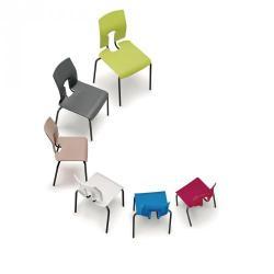 Cheap Stationery Supply of SE Ergonomic Polypropylene Chair Ivory 350mm Office Statationery