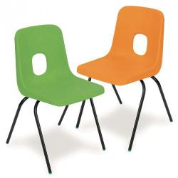Cheap Stationery Supply of Series E Polypropylene Classroom Chair Charcoal 355mm Office Statationery
