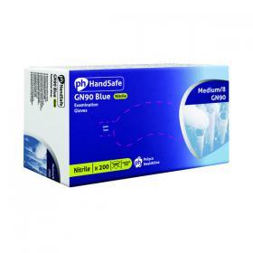 HandSafe Powder-Free Nitrile Gloves Medium Blue (Pack of 200) GN90