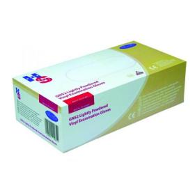 Clear Vinyl Medium Pack of 100 SHIELD HEA00488 Polypropylene Gloves