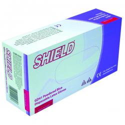 Cheap Stationery Supply of Shield Powdered Blue Small Latex Gloves (Pack of 100) GD41 Office Statationery
