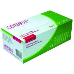 Cheap Stationery Supply of Shield Powder-Free Natural Large Latex Gloves (Pack of 100) GD05 Office Statationery