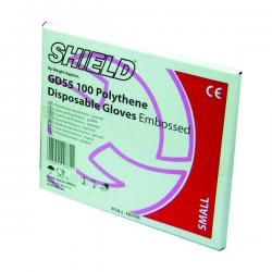 Cheap Stationery Supply of Shield Clear Polythene Glove GD55 Medium (Pack Of 10000) GD55 MED Office Statationery