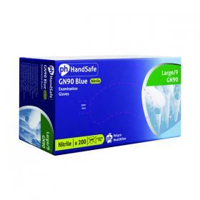 Handsafe Powder-Free Nitrile Gloves Large Blue (Pack of 200) GN90