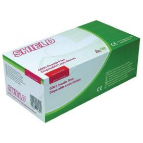 Shield Powder Free Latex Gloves Pk100x10 Hea01303 Size XL