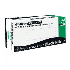 Handsafe Speciality Nitrile Gloves Large Black (Pack of 100) GL897